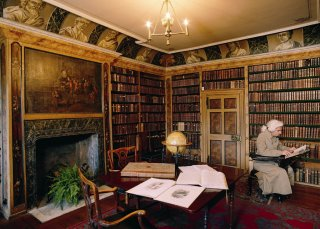 Librairie de Traquair House, Scottish Borders, Ecosse